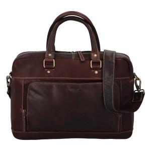 Pánska kožená taška na notebook Diviley Faust - hnedá