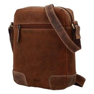 Pánska kožená taška cez rameno Diviley Dylen - koňak