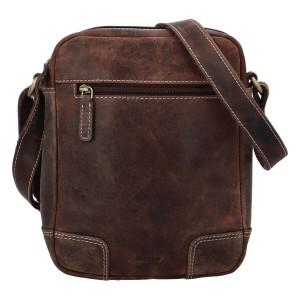 Pánska kožená taška cez rameno Diviley Dylen - hnedá