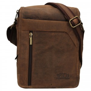 Pánska taška cez rameno Always Wild Norbel - hnedá