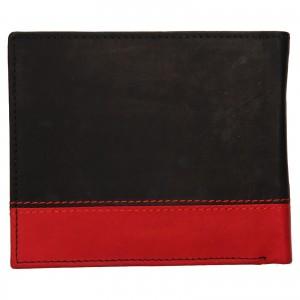 Pánska kožená peňaženka Diviley Sileo - čierno-červená