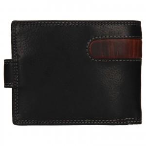 Pánska kožená peňaženka SendiDesign Fion - čierno-hnedá