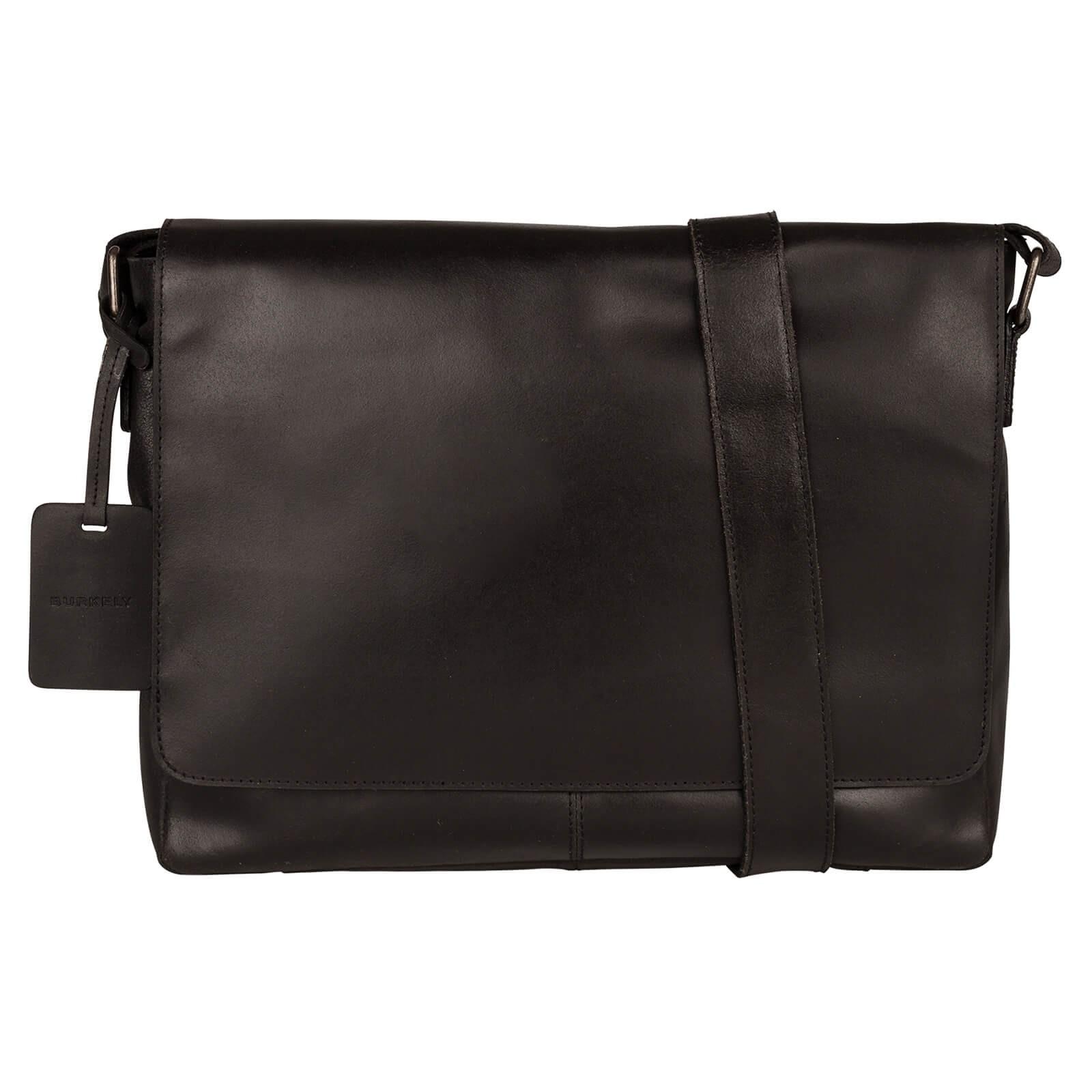 Pánska kožená taška cez rameno Burkely Juul - čierna