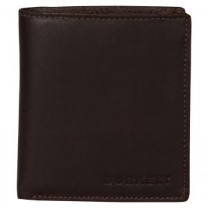 Pánska kožená peňaženka Burkely Vintage - tmavo hnedá