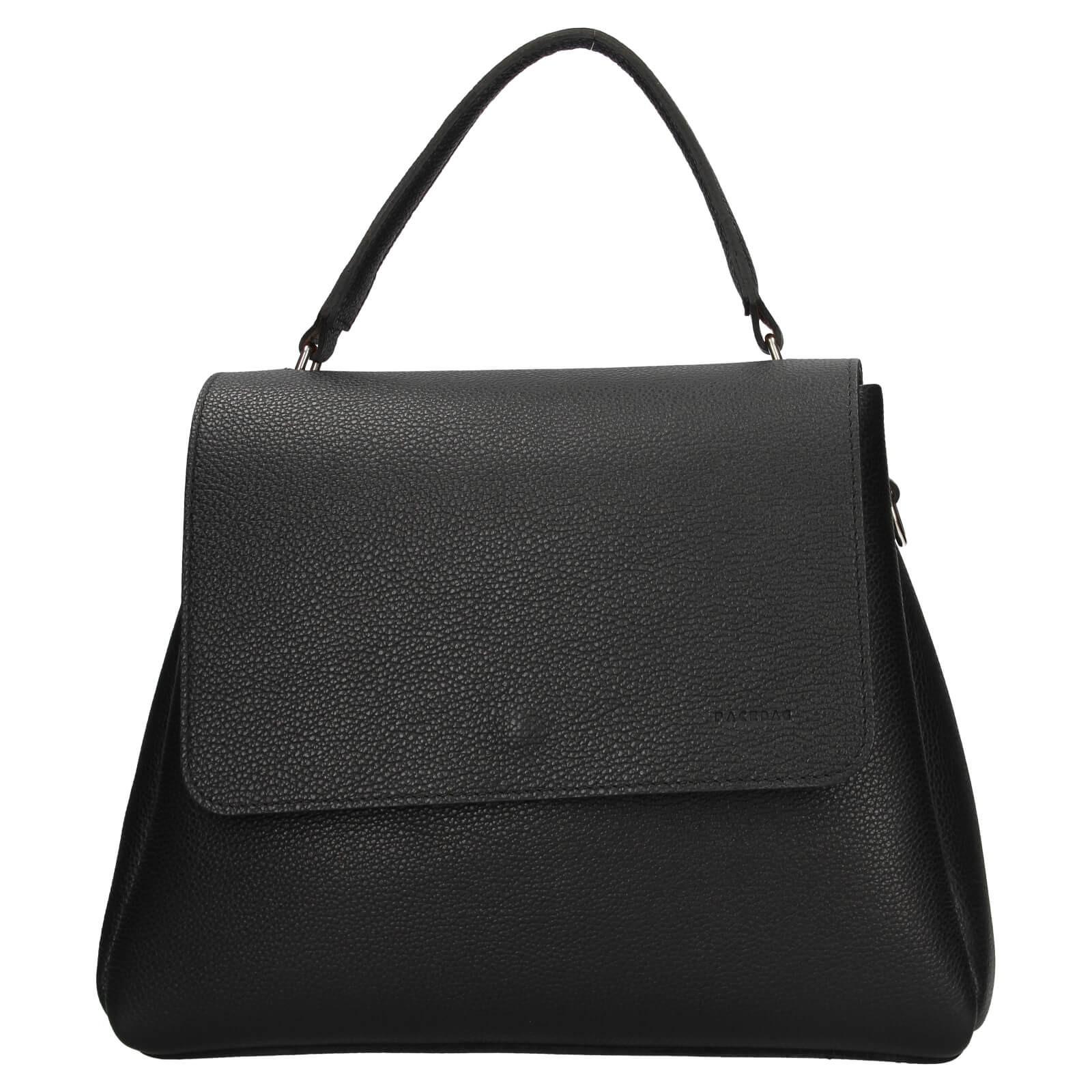 Dámska kožená kabelka Facebag Ditta - čierna