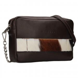 Trendy dámska kožená crossbody kabelka Facebag Ninas - čierna (chlp)