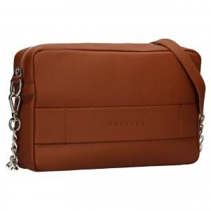 Trendy dámska kožená crossbody kabelka Facebag Ninas - koňak