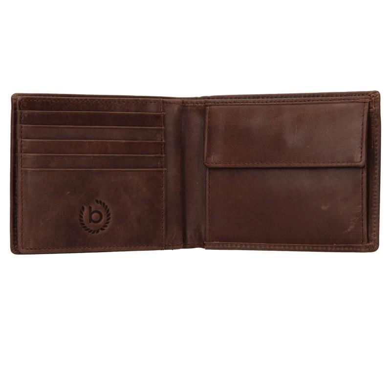 Pánska kožená peňaženka Bugatti Michael - tmavo hnedá