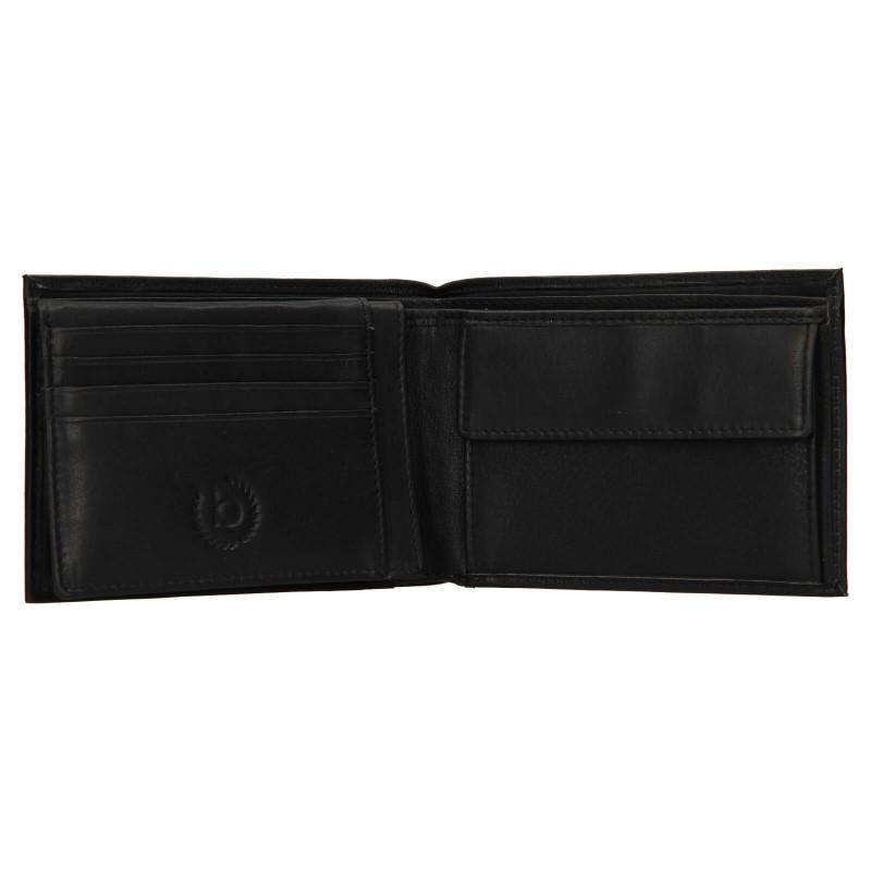 Pánska kožená peňaženka Bugatti Berle- čierna
