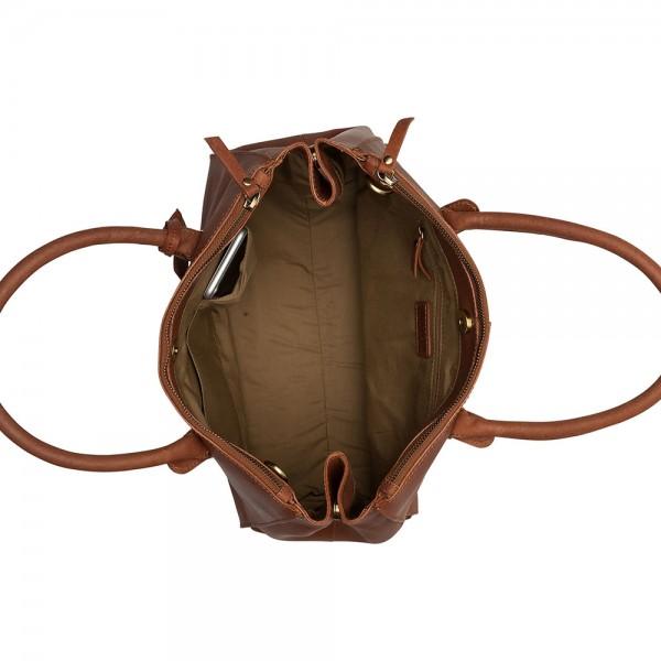 Dámska kožená kabelka Burkely Alice - koňak