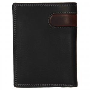 Pánska kožená peňaženka SendiDesign Ulrich - čierno-hnedá