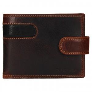 Pánska kožená peňaženka SendiDesign Fion - hnedo-čierna