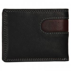 Pánska kožená peňaženka SendiDesign Pent - čierno-hnedá