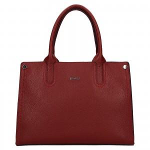 Dámska kožená kabelka Rovicky Marta - tmavo červená