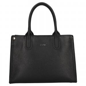 Dámska kožená kabelka Rovicky Marta - čierna
