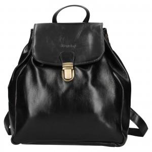 Dámsky kožený batoh Rovicky Stella - čierna