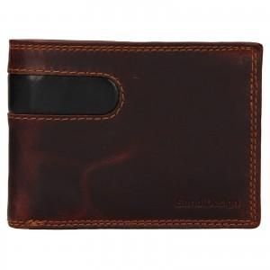 Pánská kožená peněženka SendiDesign Didier - hnědá