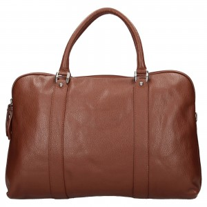 Pánska kožená taška cez rameno Katana Petrson - koňak