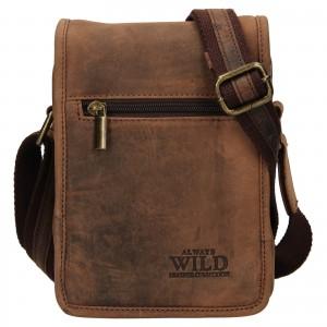 Pánska taška cez rameno Always Wild Igor - hnedá