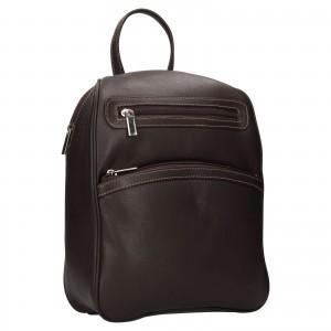 Dámsky kožený batôžtek SendiDesign 786 - hnedá