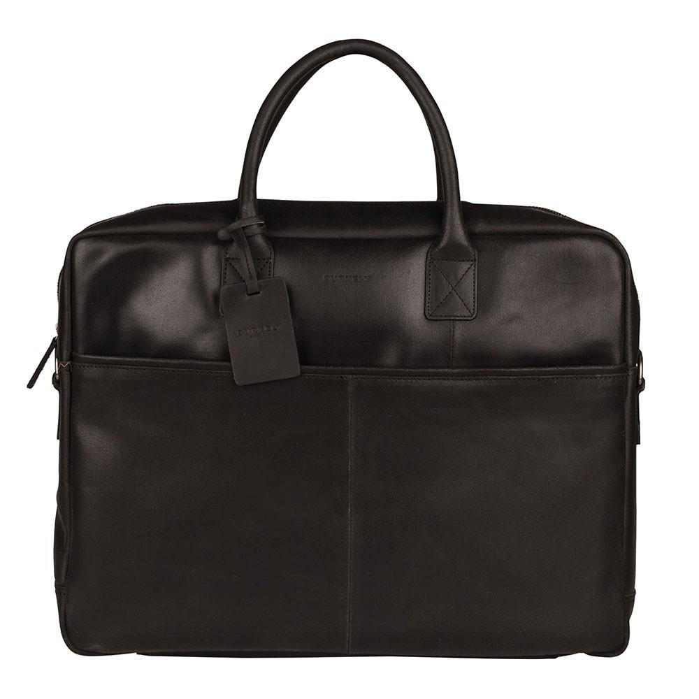 Pánska kožená taška na notebook Burkely Max - čierna