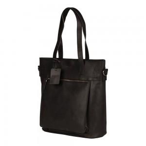 Dámska kožená kabelka Burkely Jade - čierna