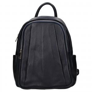 Dámský kožený batoh Delami Nevola - tmavo modrá