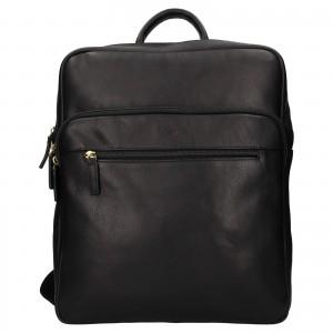 Veľký kožený batoh Katana Nice - čierna