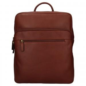 Veľký kožený batoh Katana Nice - hnedá