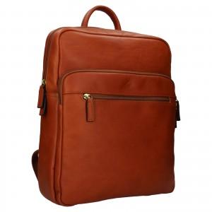 Veľký kožený batoh Katana Nice - koňak