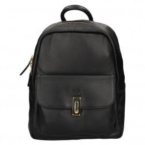 Elegantný dámsky kožený batoh Katana Ninna - čierna