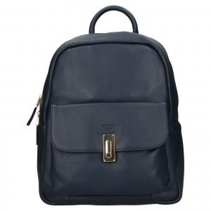 Elegantný dámsky kožený batoh Katana Ninna - modrá