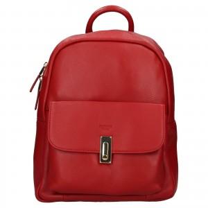 Elegantný dámsky kožený batoh Katana Ninna - červená