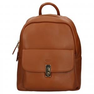 Elegantný dámsky kožený batoh Katana Ninna - hnedá