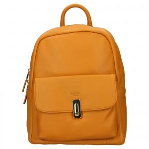 Elegantný dámsky kožený batoh Katana Ninna - žltá
