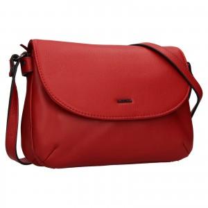 Kožená dámska crosbody kabelka Katana Felipa - červená
