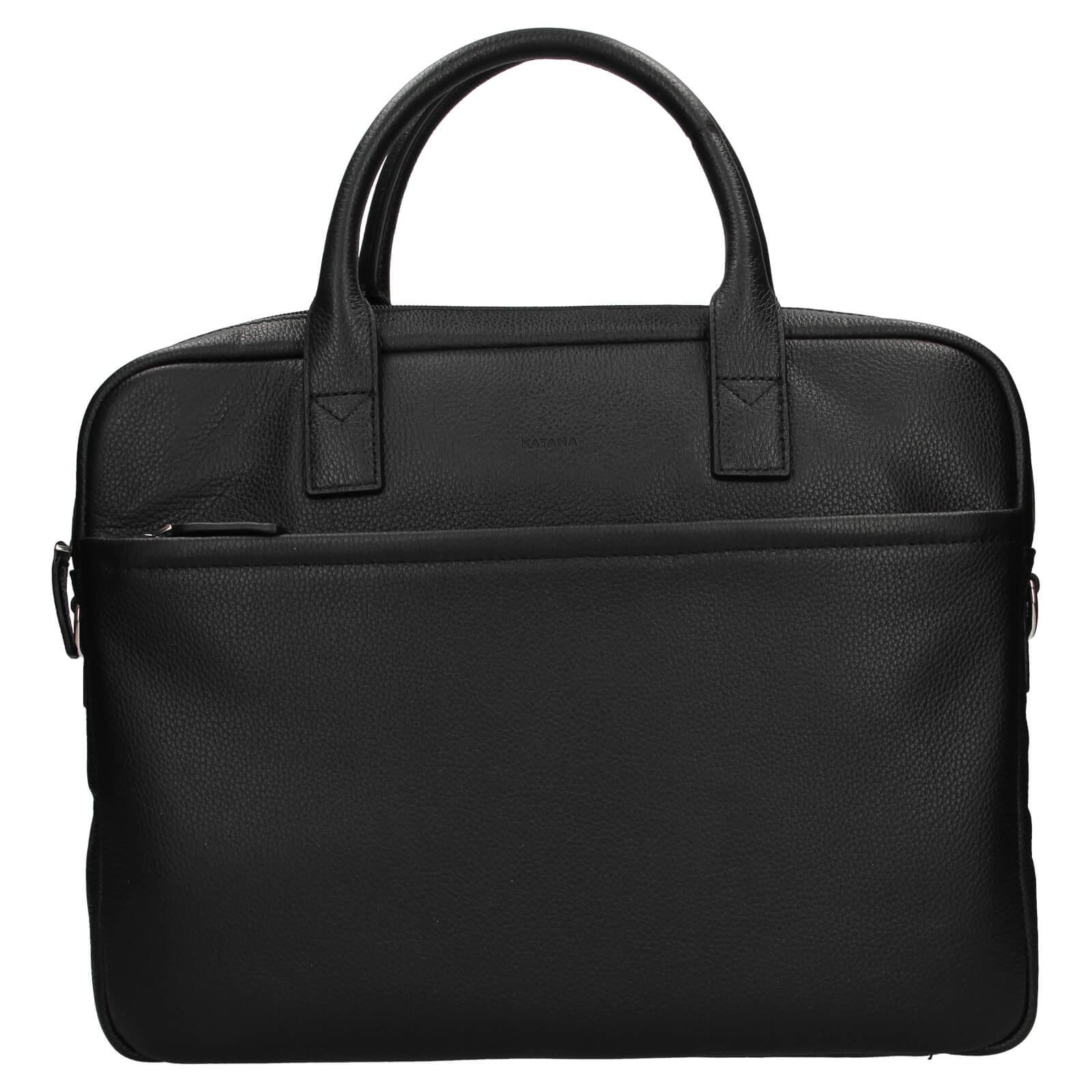 Kožená taška na notebook Katana Talin - čierna