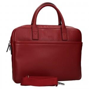 Kožená taška na notebook Katana Talin - tmavo červená