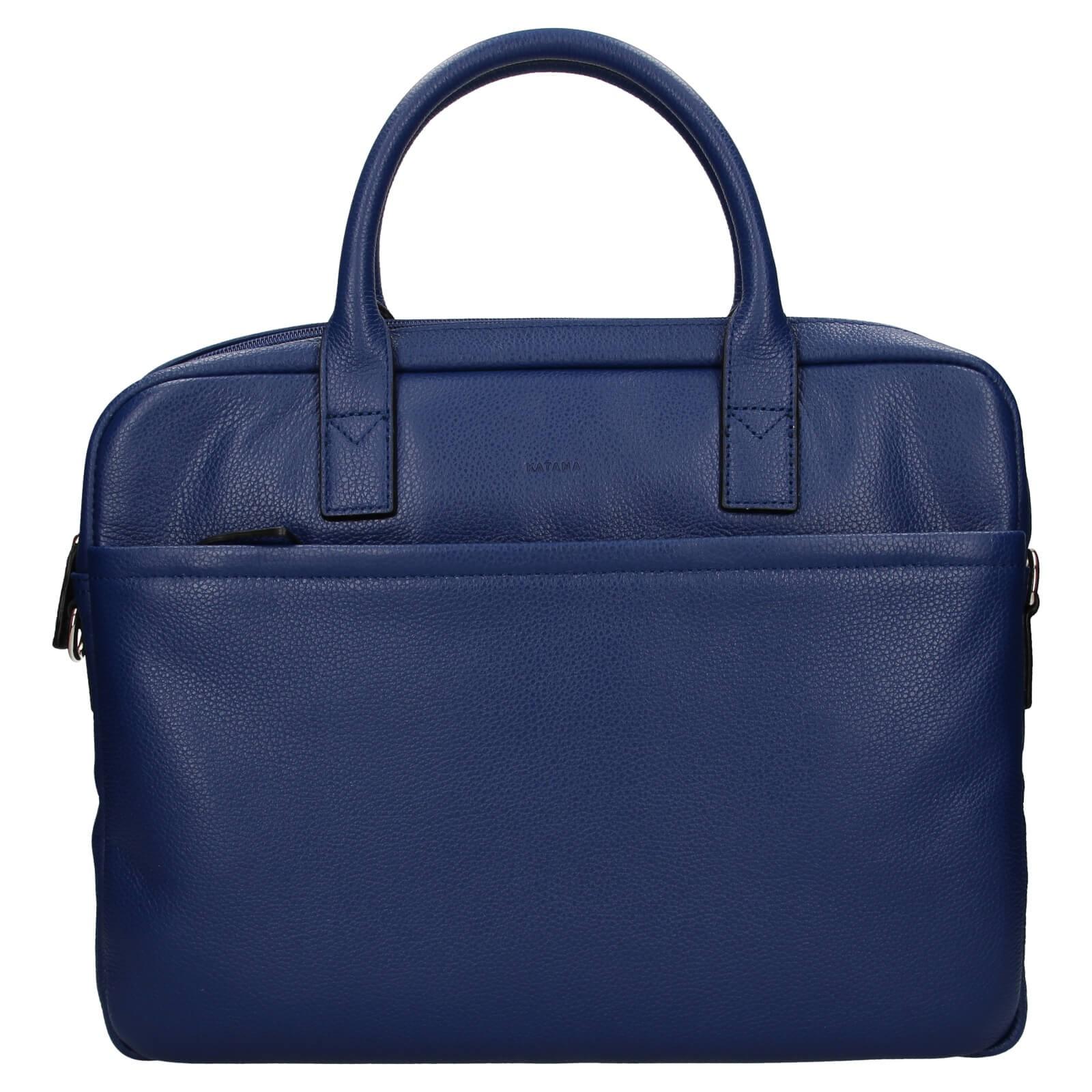 Kožená taška na notebook Katana Talin - svetlo modrá