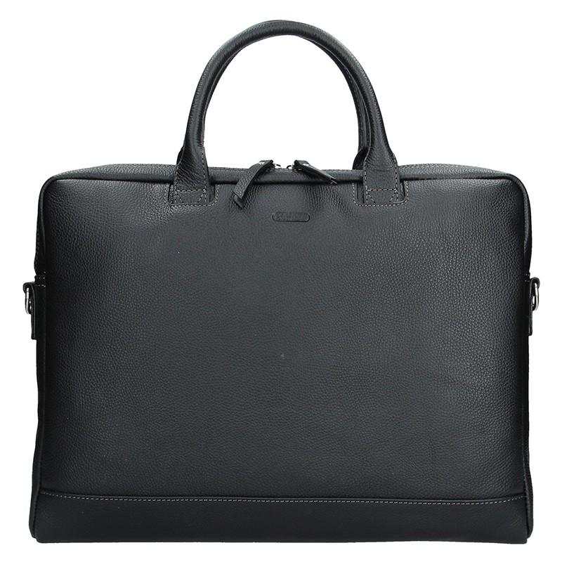 Dámska kožená taška na notebook Katana Emma - čierna