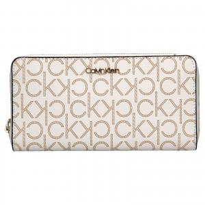 Dámska peňaženka Calvin Klein Mono - hnedo-béžová