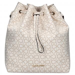 Dámska kabelka Calvin Klein Sára - hnedo-béžová