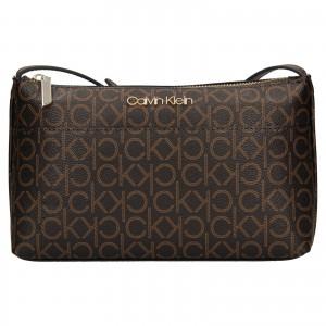 Dámska crossbody kabelka Calvin Klein Leandra - hnedá