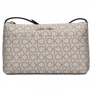 Dámska crossbody kabelka Calvin Klein Leandra - hnedo-béžová
