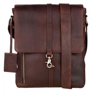 Pánska kožená taška cez rameno Burkely Avery - koňak