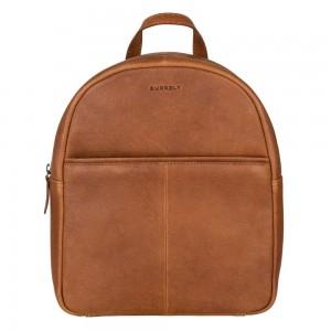 Trendy kožený batoh Burkely Terra - koňak