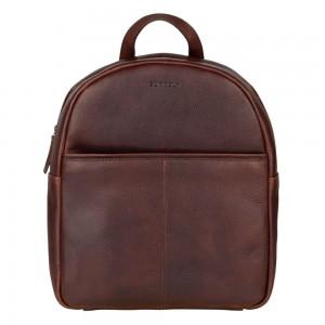 Trendy kožený batoh Burkely Terra - tmavo hnedá