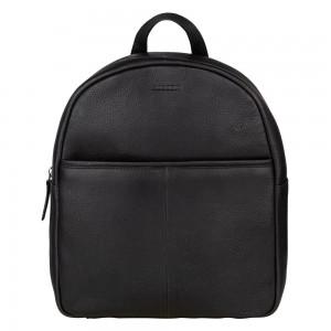 Trendy kožený batoh Burkely Terra - čierna