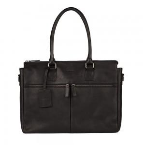 Dámska kožená kabelka Burkely Valerie - tmavo hnedá