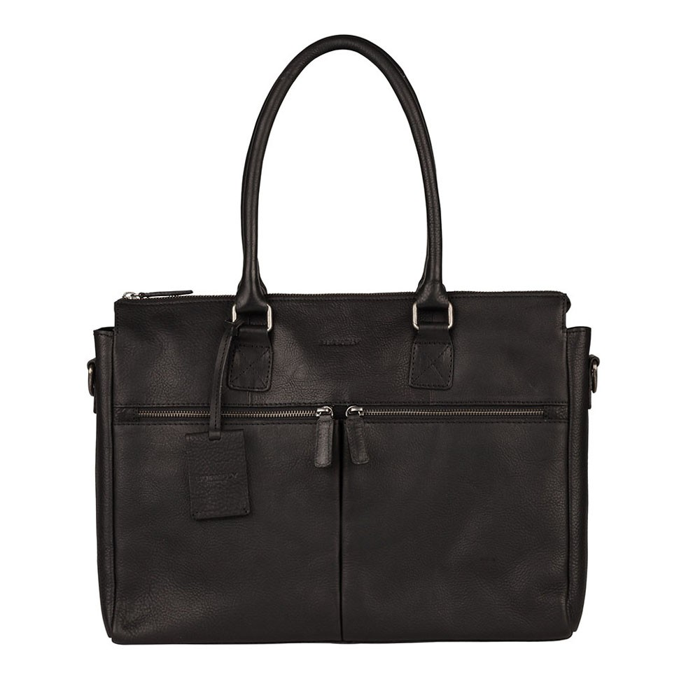 Dámska kožená kabelka Burkely Valerie - čierna
